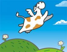 Прилетела к нам корова...