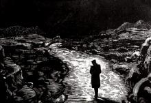 """Эпиграф к стихотворению """"Выхожу один я на дорогу"""", М.Ю.Лермонтов."""